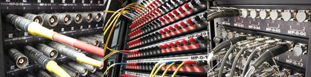 Triax, optical and SMPTE 304M patchbays