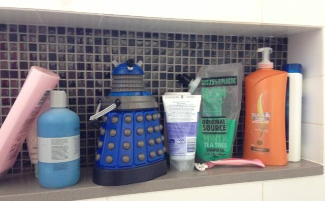 Dalek-shaped bubble bath bottle