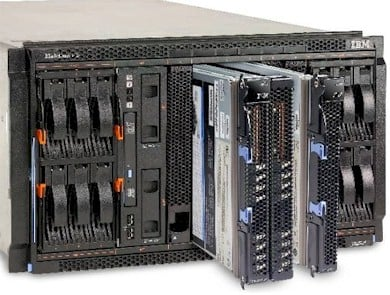 IBM's BladeCenter spitting out Power7 blades