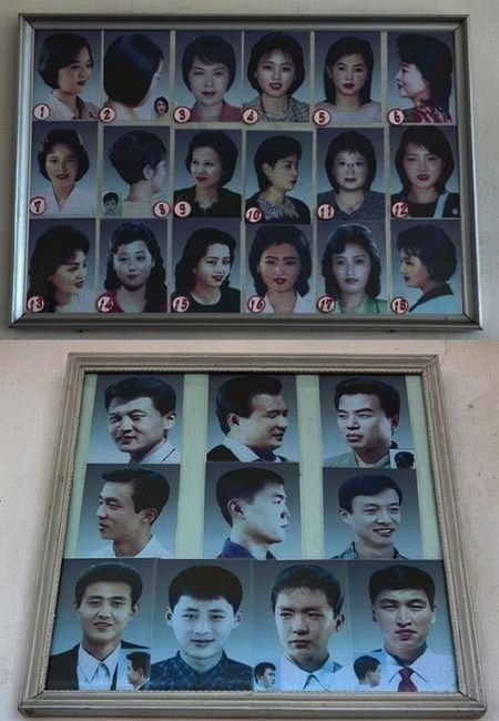 North Korean haircuts, the approved list, credit Ifeung