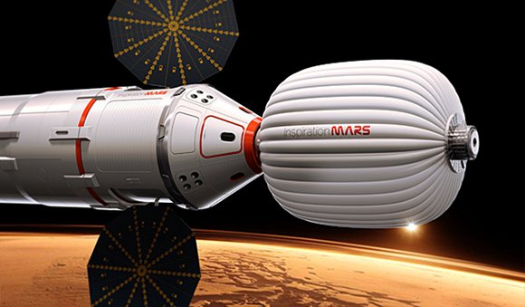 Artist&amp;amp;amp;#39;s impression of the Inspiration Mars spacecraft