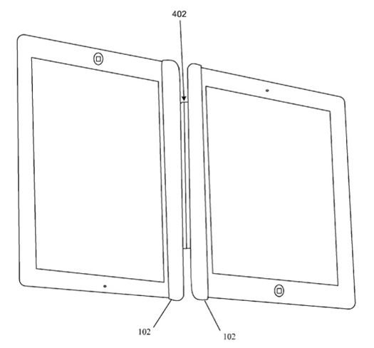 Apple iPad-to-iPad magnetic-connector patent illustration