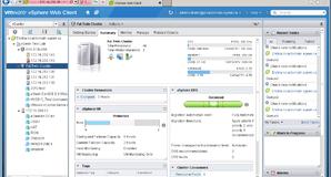 VMware vSphere 5.1 Summary View