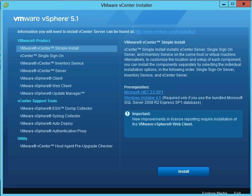 vSphere 5.1 Installer