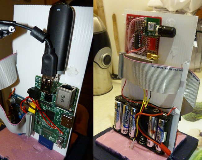 The Raspberry Pi and other kit fitted inside the Tardis