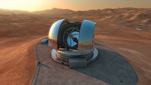 E-ELT, an artist's impression, credit ESO