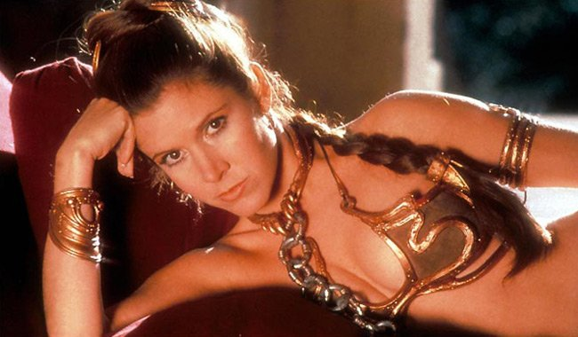 Carrie Fisher in Return of the Jedi