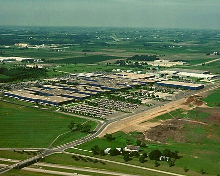 Aerial view of the IBM Rochester facility