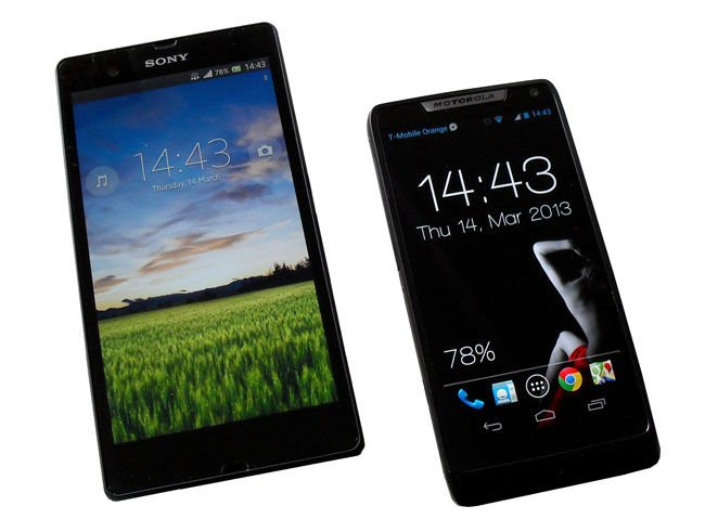 Sony Xperia Z and Motorola Razr i