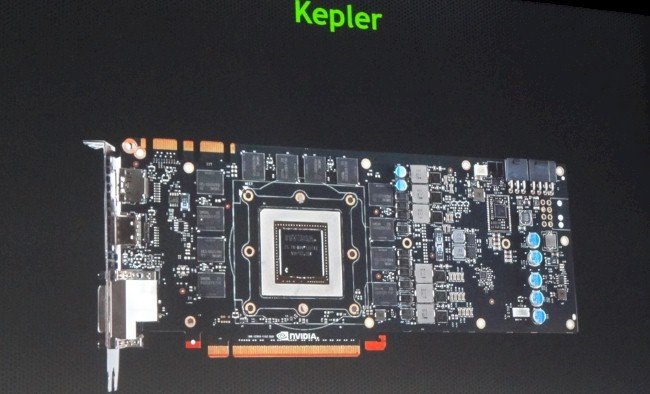 The layout of the Kepler GPU card wraps the memory around the GPU socket