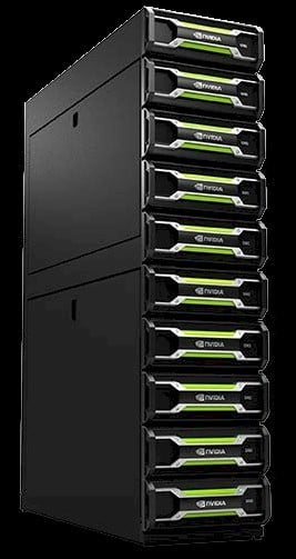 A rack of Nvidia VCAs