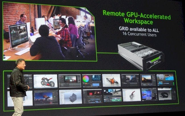 One scenario where Nvidia sees VCAs being used is a shared office where no one has a workstation