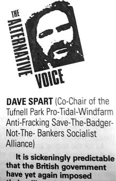 Fictional Dave Spart in Private Eye