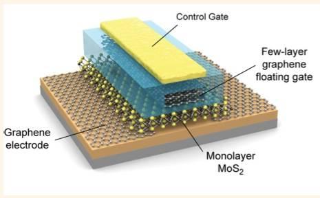MOS2 Graphene non-volatile memory cell