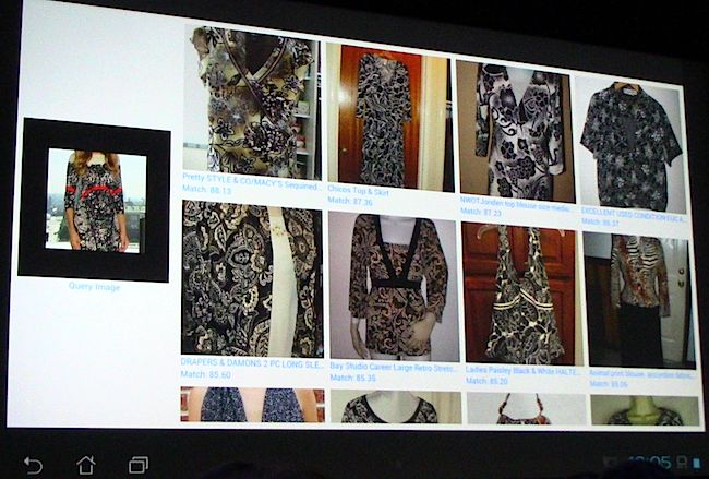 Nvidia's dress-matching software screenshot