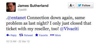 A tweet by James Sutherland