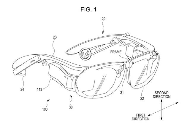 Sony wearable glasses patent pic