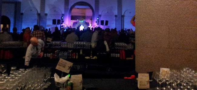 The bar at the Spiceworld party