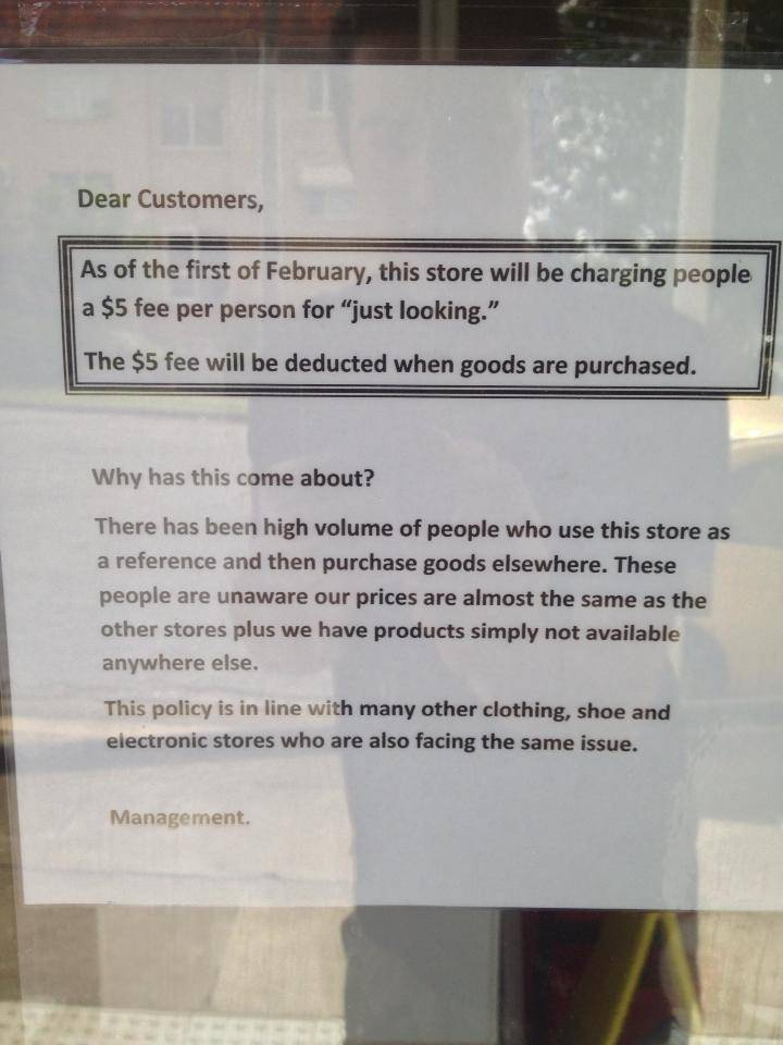 Sign at Brisbane store Celiac Supplies spotted by Redditor Barrett Fox