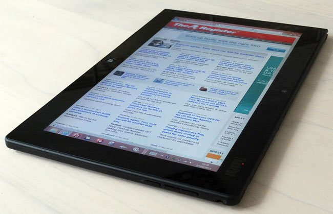 Lenovo ThinkPad Tablet 2 portrait browsing