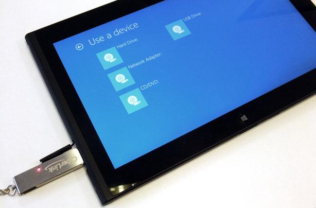 Lenovo ThinkPad Tablet 2 start-up options