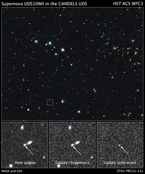 Hubble view of supernova SN Wilson