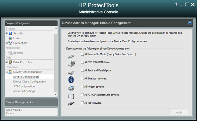 HP ElitePad 900 Windows 8 Pro tablet Protect Tools