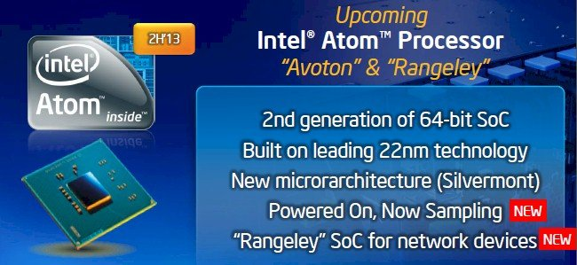 Intel will roll out three Atom chips in 2013, one for servers, one for storage, and one for network gear
