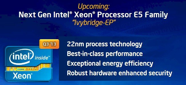 The workhorse Xeon E5 gets a refresh to Ivy Bridge in the third quarter