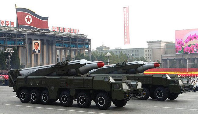 Two Musudan missiles in Pyongy