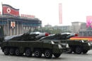 Two Musudan missiles in Pyongyang in October 2010