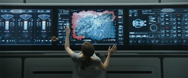 Oblivion, the movie comms officer desk
