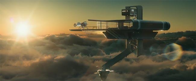 Oblivion, the movie Sky Tower