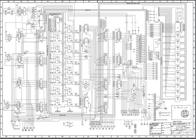 Space Invaders schematic