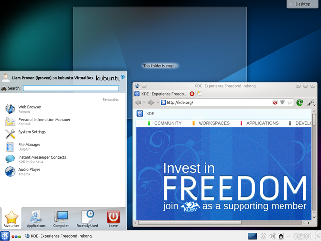 The Kbuntu Desktop1