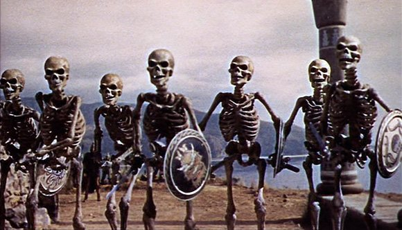 Ray Harryhausen's skeleton army from