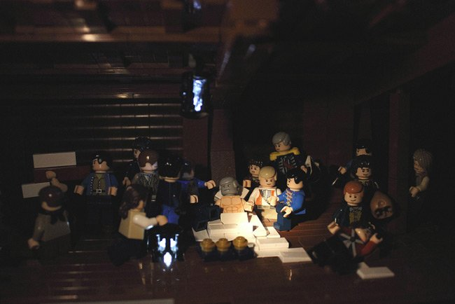 The death of Nelson, depicted in Lego by James Pegrum