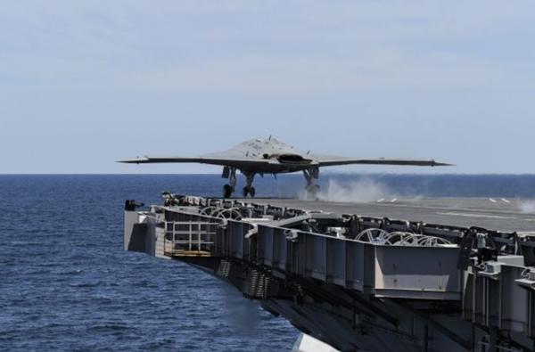 X47B drone takeoff