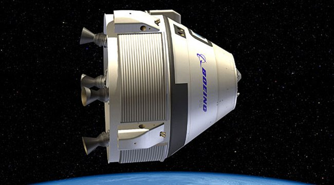 Artist's impression of the CST-100 in space. Pic: Boeing