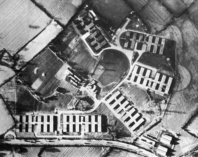 Benhall site in 1945
