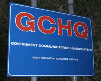 GCHQ Oakley Sign