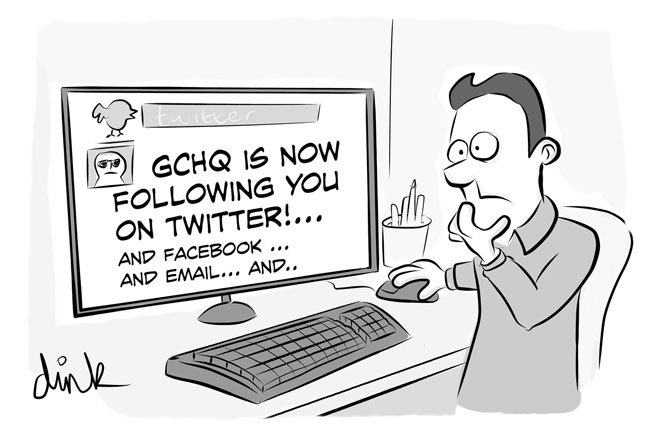 GCHQ is following you on Twitter, Facebook, email...