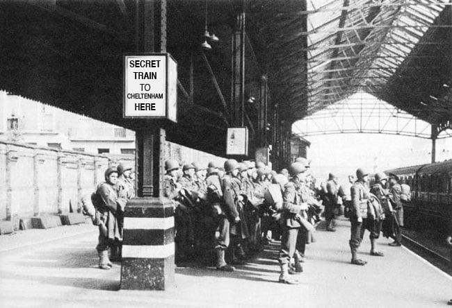 US Forces await secret train to Cheltenham