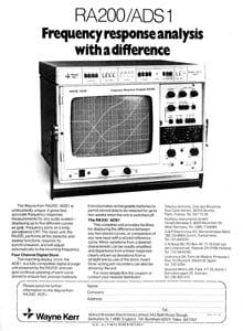 Wayne Kerr spectrum analyser from 1978