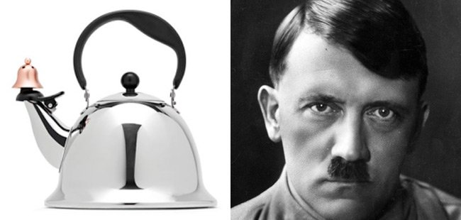 The offending kettle and Adolf Hitler
