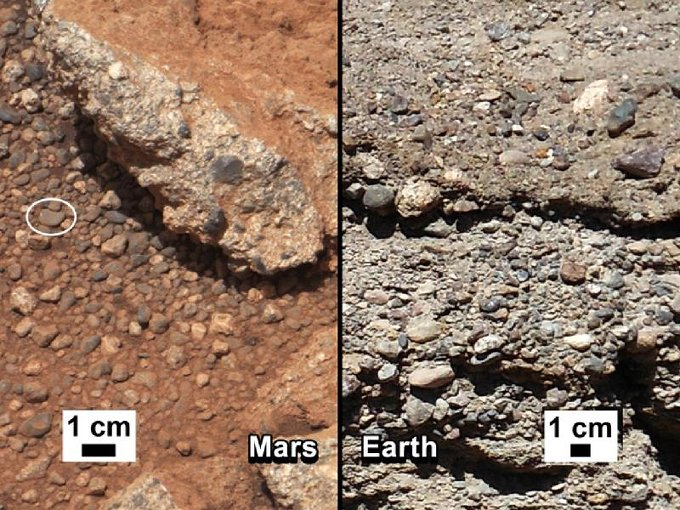 Martian rocks compared with ones on Earth