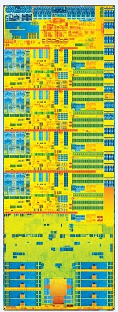 The Haswell Xeon E3-1200 v3 chip is tall and skinny