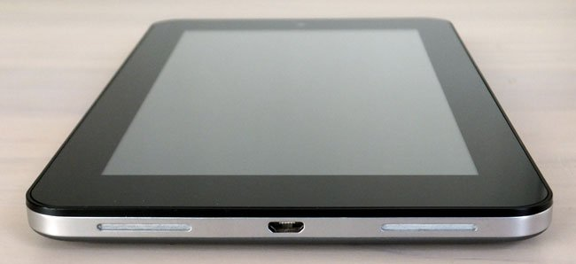 HP Slate 7 Android tablet speakers and micro USB interface
