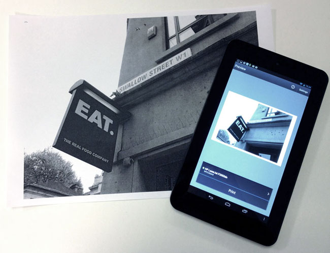 HP Slate 7 Android tablet app printing