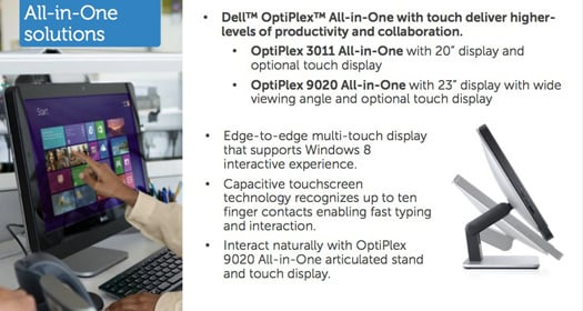 Dell 20-inch OptiPlex 3011 and 23-inch OptiPlex 9200 All-in-One systems